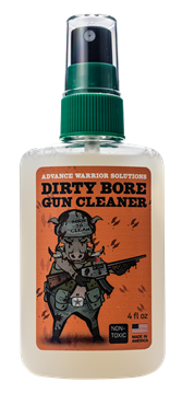 Picture of ADVANCE WARRIOR SOLUTIONS Dirty Bore AWS DIRTY BORE GUN CLEANER 4OZ    12CT 682500376702