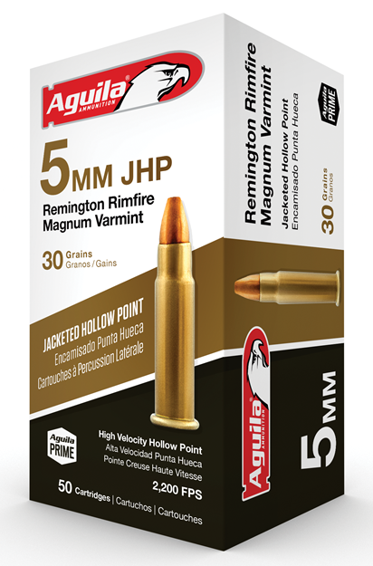 Picture of AGUILA AMMUNITION 5mm AGUILA 1B222406  5 MM        30 JHP       50 20 853843002676