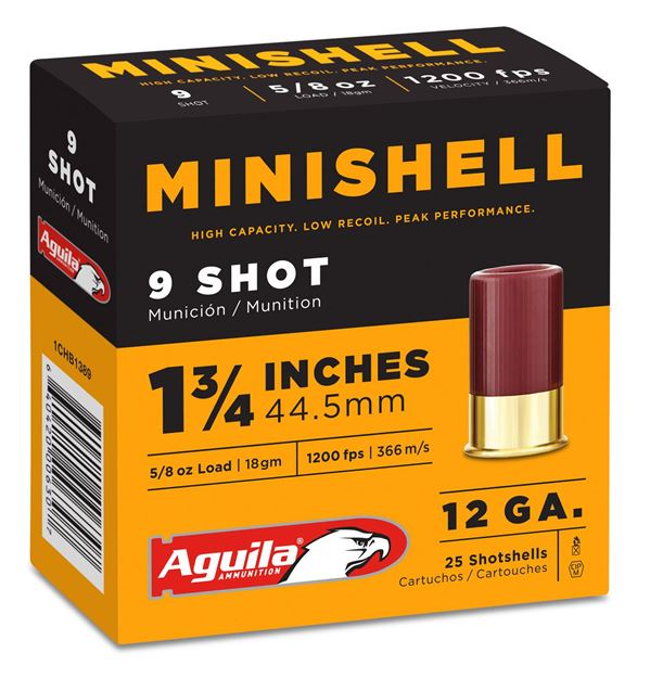 Picture of AGUILA AMMUNITION  AGUILA 1CHB1389 12GA MINI  9   5 8 OZ     25 10 640420006291