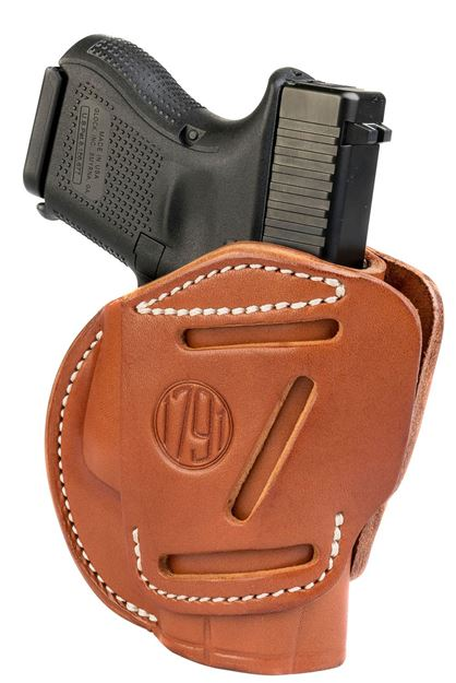Picture of 1791 GUNLEATHER 3 Way 1791 3WH-3-CBR-A   3WAY OWB GLK26 LC9 SHIELD   BRN 816161021224