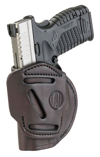 Picture of 1791 GUNLEATHER 4 Way 1791 4WH-4-SBR-R   4WAY IWB OWB SIZE 4 SIGNTRE BRN 816161020111