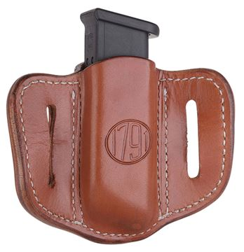 Picture of 1791 GUNLEATHER MAG1.2 1791 MAG-1.2-CBR-A  SINGLE MAG DOUBLE STACK  C.BRN 816161021507