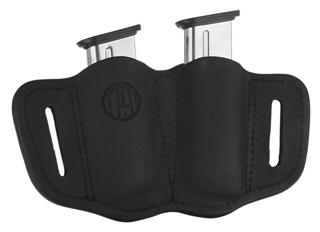 Picture of 1791 GUNLEATHER MAG2.1 1791 MAG-2.1-SBL-A  DOUBLE MAG SINGLE STACK    BLK 816161020418