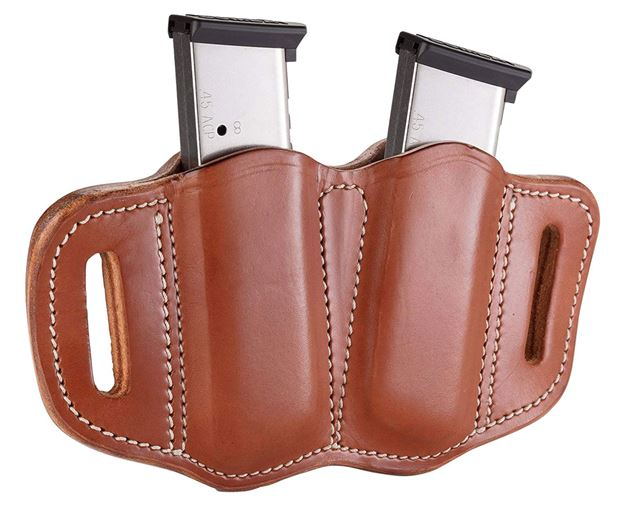 Picture of 1791 GUNLEATHER MAG2.1 1791 MAG-2.1-CBR-A  DOUBLE MAG SINGLE STACK  C.BRN 816161021484