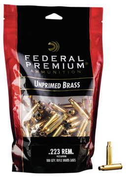 Picture of FEDERAL CARTRIDGE VISTA Gold Medal FED PR223UPB100    GM 223    UNP BAGGED BRASS 100 29465064488